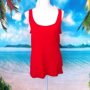❤️2/$25 Faded Glory Red Ribbed Tank Top XXL (20)